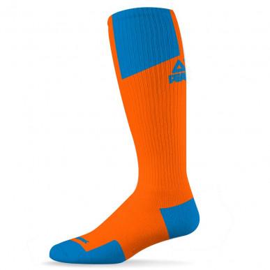 Chaussettes Hautes Pro Orange/Bleu