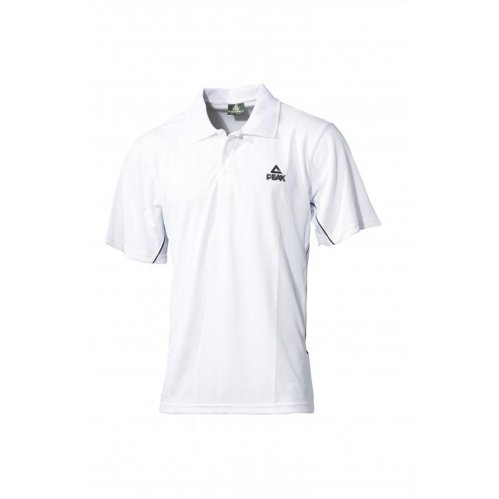 Polo polyester blanc